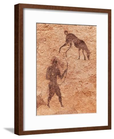 Famous Prehistoric Rock Paintings Of Tassili N'Ajjer, Algeria-DmitryP-Framed Art Print