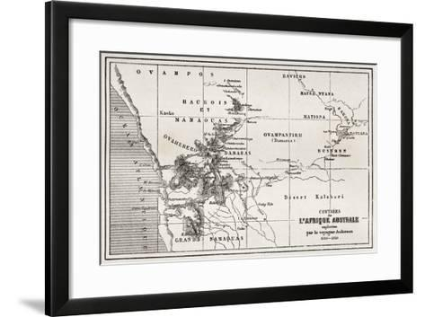 South Western Africa Old Map-marzolino-Framed Art Print