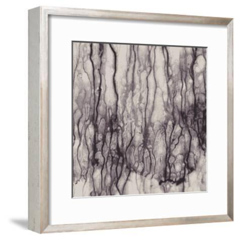 Abstract With Flowing Paint, No Effects, No Blends, No Gradients-greenga-Framed Art Print
