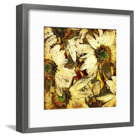 Art Floral Vintage Colorful Background. To See Similar, Please Visit My Portfolio-Irina QQQ-Framed Art Print