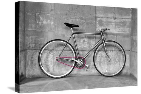 A Fixed-Gear Bicycle (Or Fixie) In Black And White With A Pink Chain-Dutourdumonde-Stretched Canvas Print