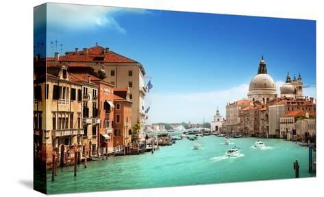 Grand Canal And Basilica Santa Maria Della Salute, Venice, Italy-Iakov Kalinin-Stretched Canvas Print