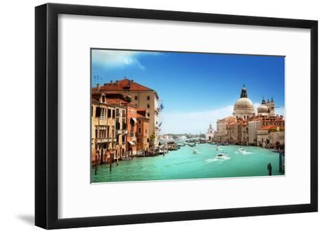 Grand Canal And Basilica Santa Maria Della Salute, Venice, Italy-Iakov Kalinin-Framed Art Print