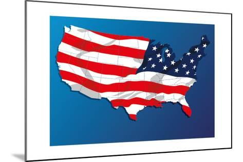 Map Of The United States Of America States, With Each State On Its Shape-Blink Blink-Mounted Art Print