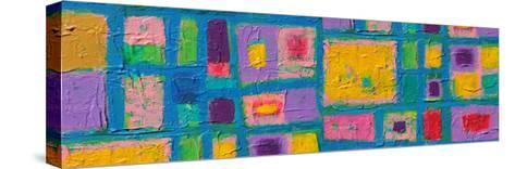 Panorama Texture, Background And Colorful Image Of An Original Abstract Painting On Canvas-opasstudio-Stretched Canvas Print