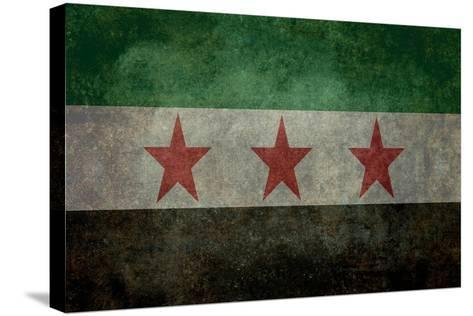 Syrian Interim Government And Syrian National Coalition'S National Flag-Bruce stanfield-Stretched Canvas Print