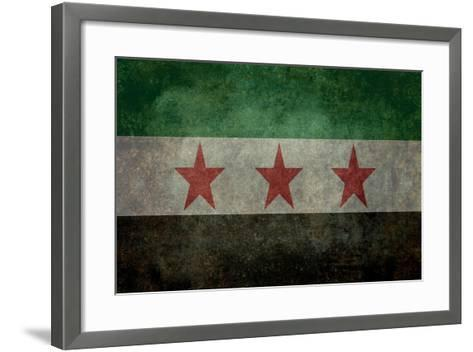 Syrian Interim Government And Syrian National Coalition'S National Flag-Bruce stanfield-Framed Art Print