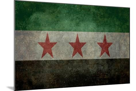 Syrian Interim Government And Syrian National Coalition'S National Flag-Bruce stanfield-Mounted Art Print