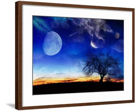 From Earth Looking Out Into The A Surreal Night Starry Sky-Vicki France-Framed Art Print