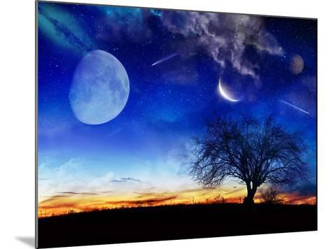 From Earth Looking Out Into The A Surreal Night Starry Sky-Vicki France-Mounted Art Print