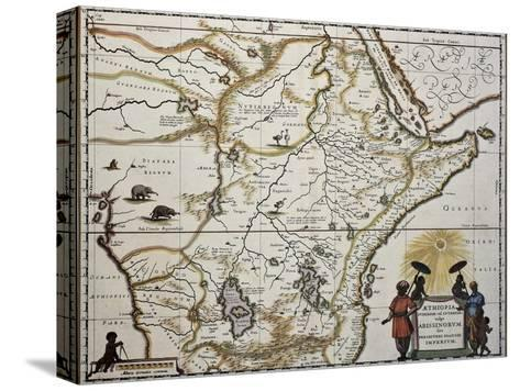Ethiopia Old Map. Created By Joan Blaeu, Published In Amsterdam 1650-marzolino-Stretched Canvas Print