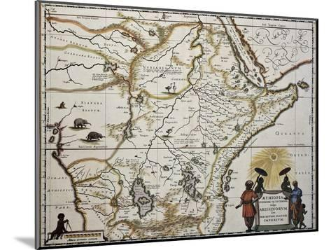 Ethiopia Old Map. Created By Joan Blaeu, Published In Amsterdam 1650-marzolino-Mounted Art Print