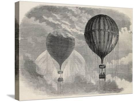 Old Illustration Of A Strange Optical Phenomena During Aerostat Ascension In Paris, 15 April 1868-marzolino-Stretched Canvas Print