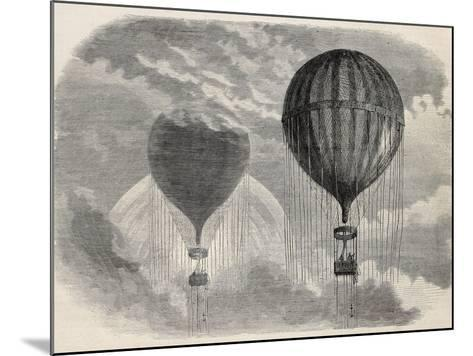 Old Illustration Of A Strange Optical Phenomena During Aerostat Ascension In Paris, 15 April 1868-marzolino-Mounted Art Print