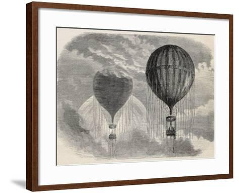 Old Illustration Of A Strange Optical Phenomena During Aerostat Ascension In Paris, 15 April 1868-marzolino-Framed Art Print