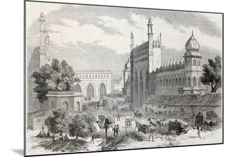 Old Illustration Of Main Street In Lucknow, India-marzolino-Mounted Art Print