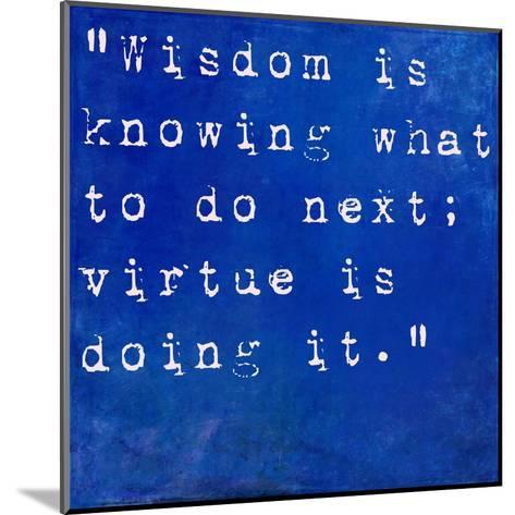 Inspirational Quote By David Star Jordan On Earthy Blue Background-nagib-Mounted Art Print