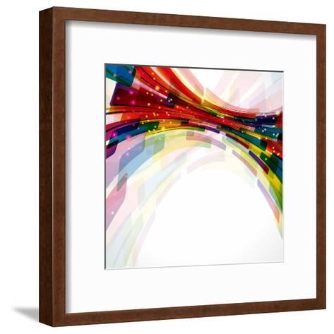 Multicolor Abstract Bright Background. Elements For Design-OlgaYakovenko-Framed Art Print