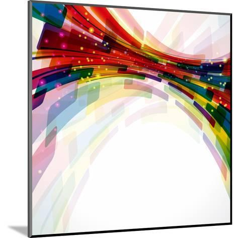 Multicolor Abstract Bright Background. Elements For Design-OlgaYakovenko-Mounted Art Print