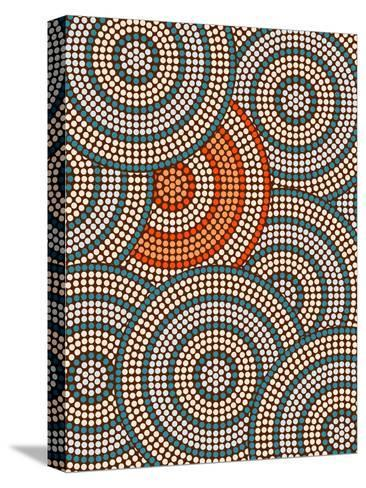 A Illustration Based On Aboriginal Style Of Dot Painting Depicting Circle Background-deboracilli-Stretched Canvas Print