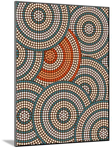 A Illustration Based On Aboriginal Style Of Dot Painting Depicting Circle Background-deboracilli-Mounted Art Print