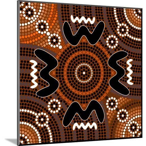 A Illustration Based On Aboriginal Style Of Dot Painting Depicting Difference-deboracilli-Mounted Art Print