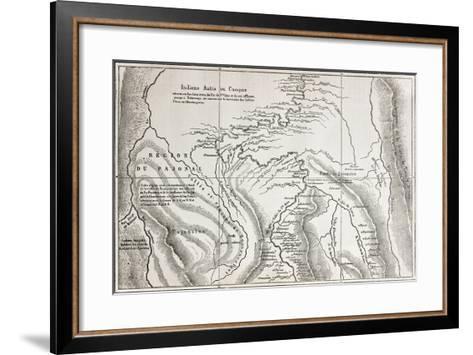 Old Map Of Campa Indians (Ashaninka) Territory, Peru-marzolino-Framed Art Print