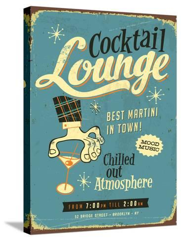 Vintage Design -  Cocktail Lounge-Real Callahan-Stretched Canvas Print