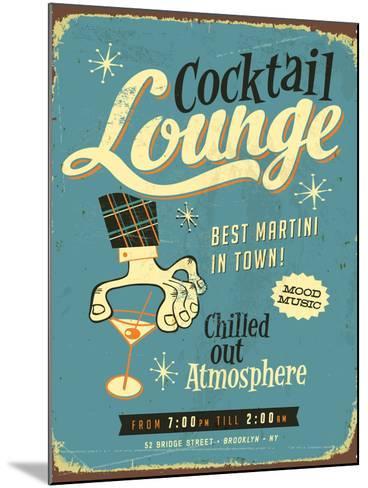 Vintage Design -  Cocktail Lounge-Real Callahan-Mounted Art Print