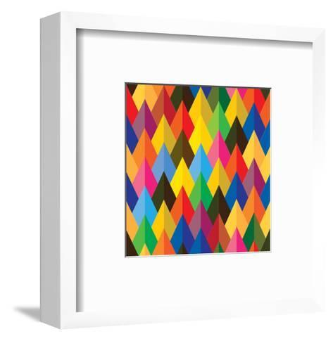 Seamless Abstract Colorful Of Cones Or Triangle Shapes-smarnad-Framed Art Print