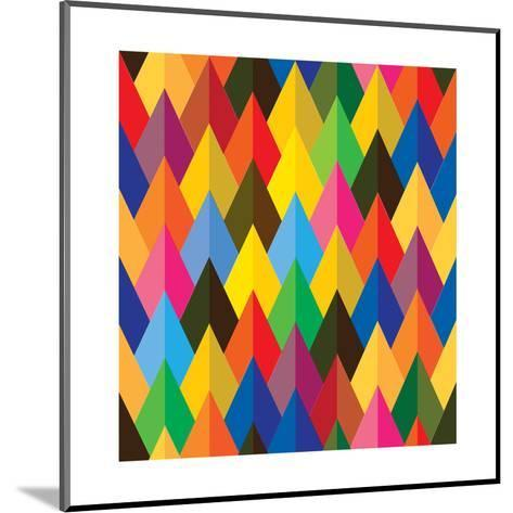 Seamless Abstract Colorful Of Cones Or Triangle Shapes-smarnad-Mounted Art Print