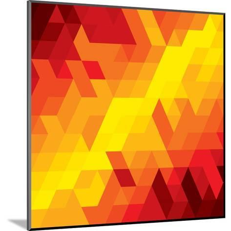 Abstract Colorful Of Diamond, Cube And Square Shapes-smarnad-Mounted Art Print