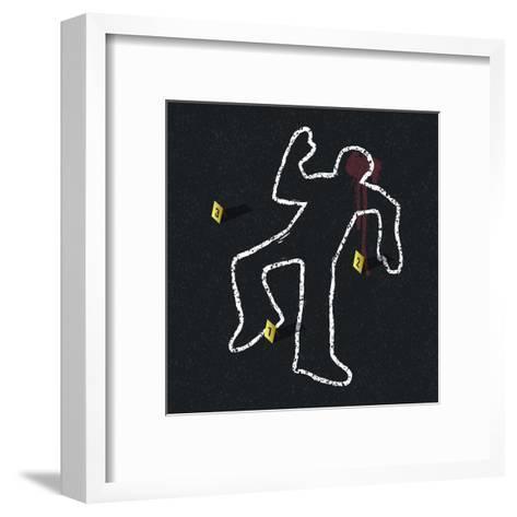 Crime Scene Illustration-pashabo-Framed Art Print