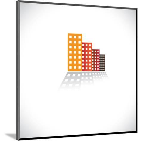 Colorful Commercial Buildings,Offices, Apartments-smarnad-Mounted Art Print
