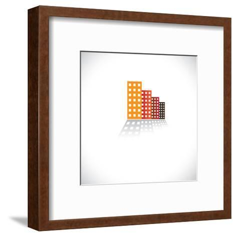 Colorful Commercial Buildings,Offices, Apartments-smarnad-Framed Art Print