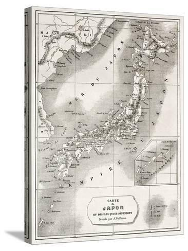 Japan Old Map. Created By Vuillemin And Erhard, Published On Le Tour Du Monde, Paris, 1860-marzolino-Stretched Canvas Print