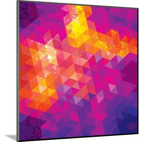Square Composition With Geometric Shapes. Cover Background-nuraschka-Mounted Art Print