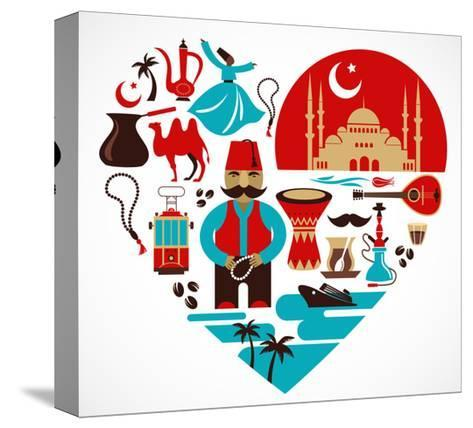 Turkey - Heart-Marish-Stretched Canvas Print
