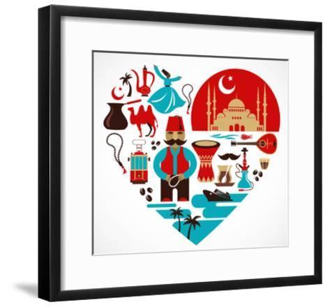 Turkey - Heart-Marish-Framed Art Print