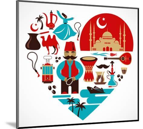 Turkey - Heart-Marish-Mounted Art Print