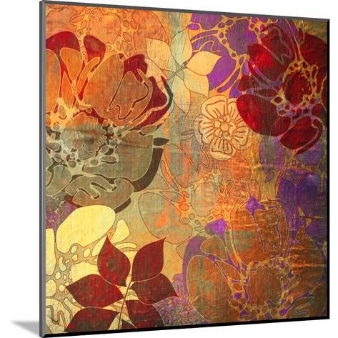 Art Floral Grunge Background Pattern. To See Similar, Please Visit My Portfolio-Irina QQQ-Mounted Art Print