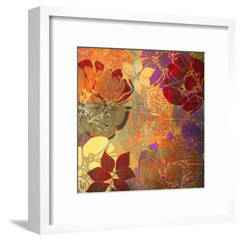 Art Floral Grunge Background Pattern. To See Similar, Please Visit My Portfolio-Irina QQQ-Framed Art Print