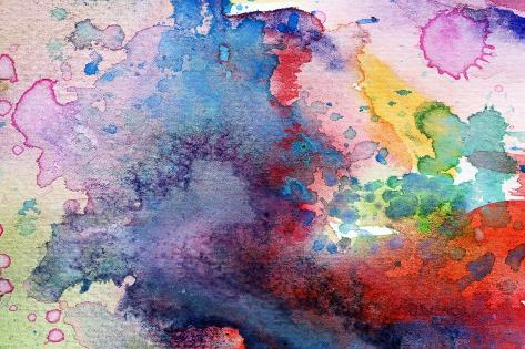 Abstract Painting Background With Expressive Brush Strokes-run4it-Stretched Canvas Print