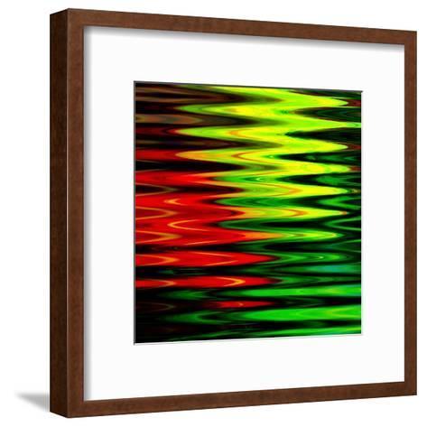 Art Abstract Geometric Textured Bright Green And Red Background-Irina QQQ-Framed Art Print