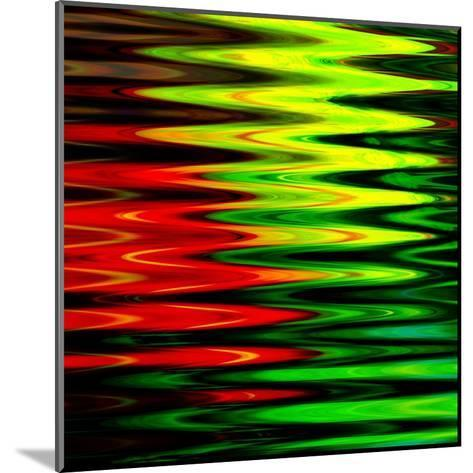 Art Abstract Geometric Textured Bright Green And Red Background-Irina QQQ-Mounted Art Print