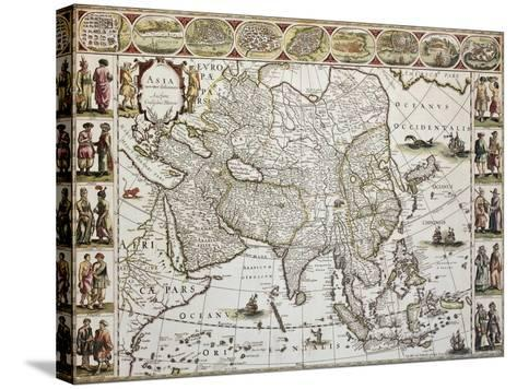 Asia Old Map. Created By Willem Bleau, Published In Amsterdam, Ca. 1650-marzolino-Stretched Canvas Print