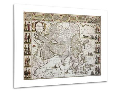 Asia Old Map. Created By Willem Bleau, Published In Amsterdam, Ca. 1650-marzolino-Metal Print