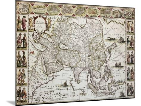 Asia Old Map. Created By Willem Bleau, Published In Amsterdam, Ca. 1650-marzolino-Mounted Art Print
