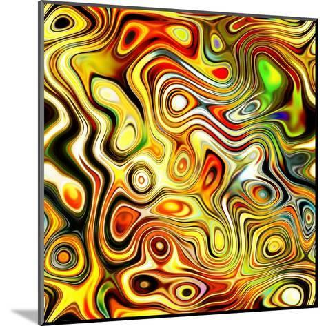 Art Glass Colorful Textured Red, Golden And Green Background-Irina QQQ-Mounted Art Print