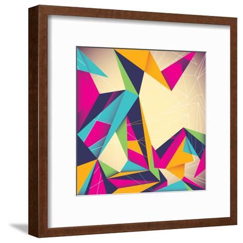 Colorful Illustrated Abstraction-Rashomon-Framed Art Print